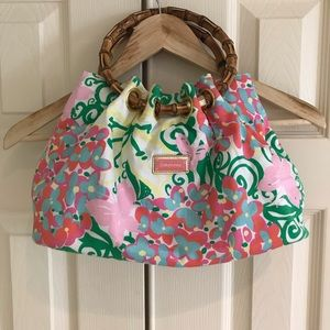 Lily Pulitzer Bamboo Handle purse.